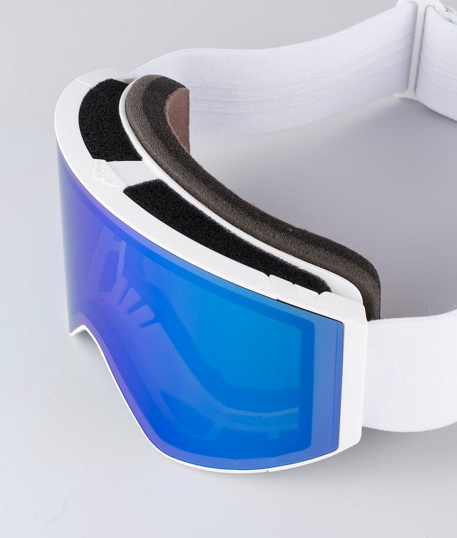 Montec Scope Large Ski Goggle White W/White Tourmaline Green