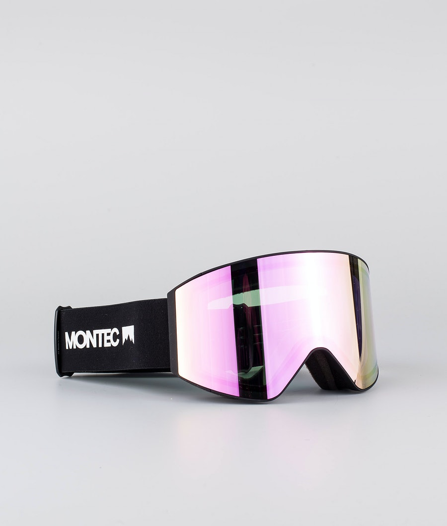Montec Scope Large Ski Goggle Black W/Black Pink Sapphire