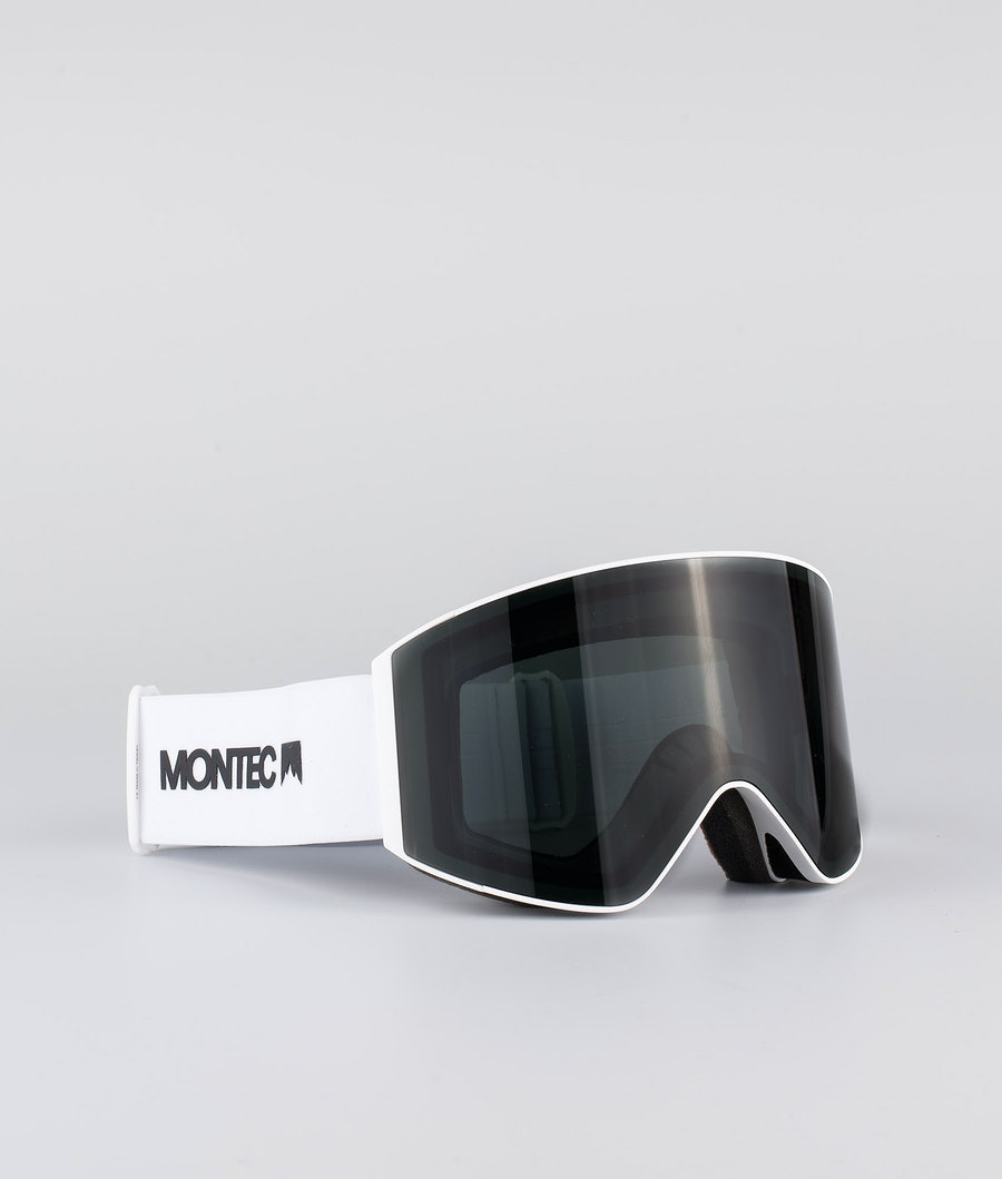 Montec Scope Large Skibrille White W/White Black