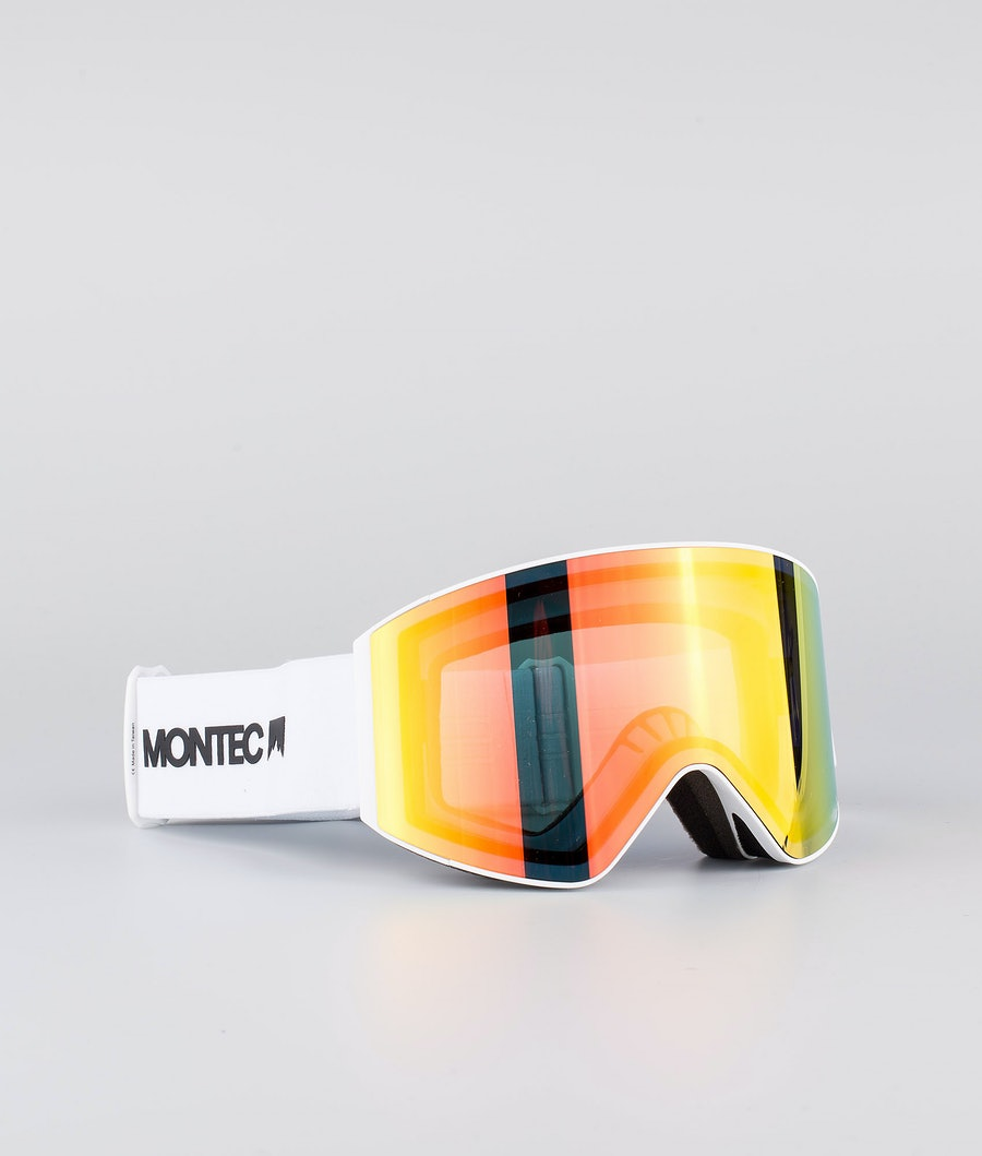 Montec Scope Large Ski Goggle White W/White Roby Red