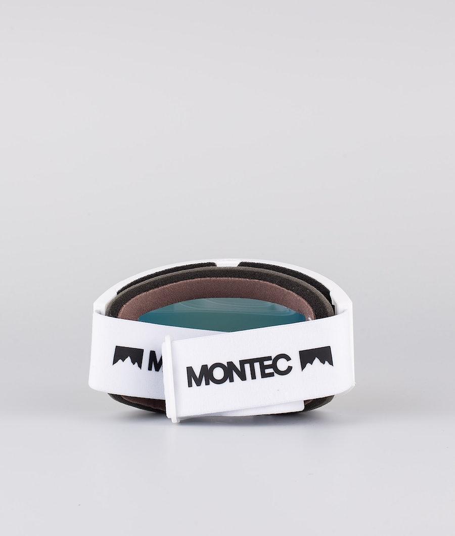 Montec Scope Large Ski Goggle White W/White Roby Red