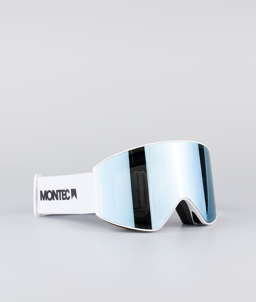 Montec Scope Large Skidglasögon White W/White Moon Blue