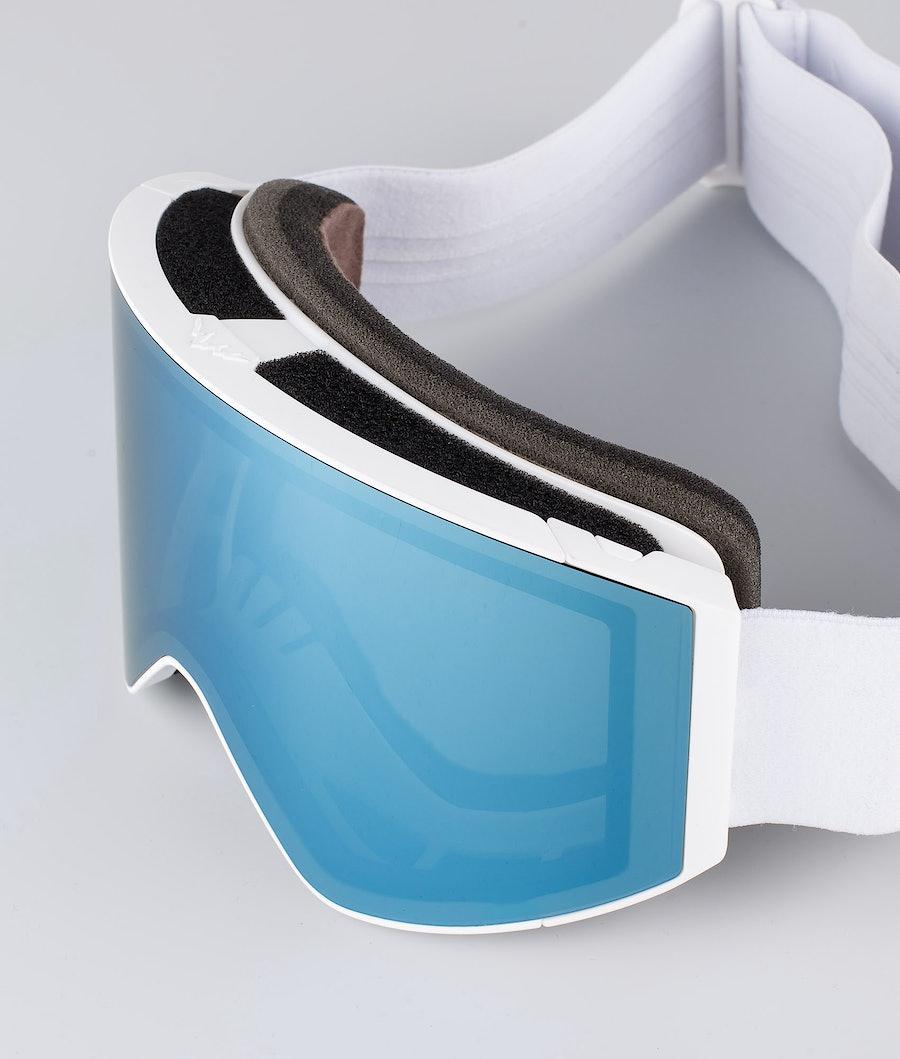 Montec Scope Large Ski Goggle White W/White Moon Blue