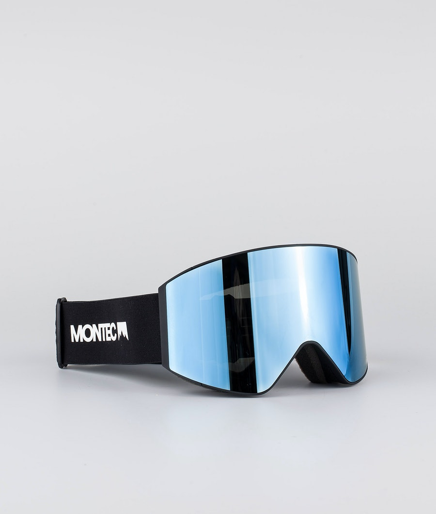 Montec Scope Large Skidglasögon Black W/Black Moon Blue