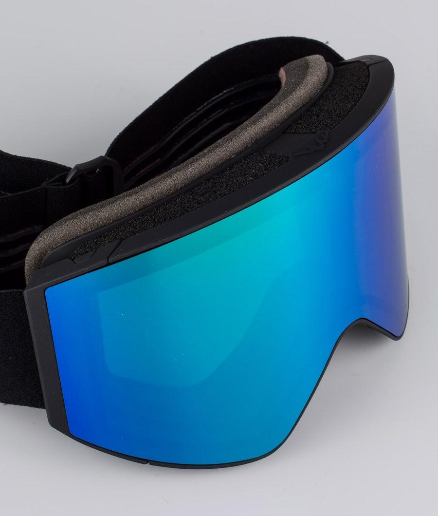 Dope Sight Large Skibril Black W/Black Green Mirror