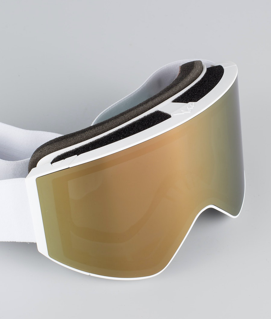 Dope Sight Large Skibrille White W/White Champagne