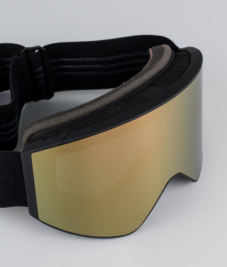 Dope Sight Large Skidglasögon Black W/Black Champagne