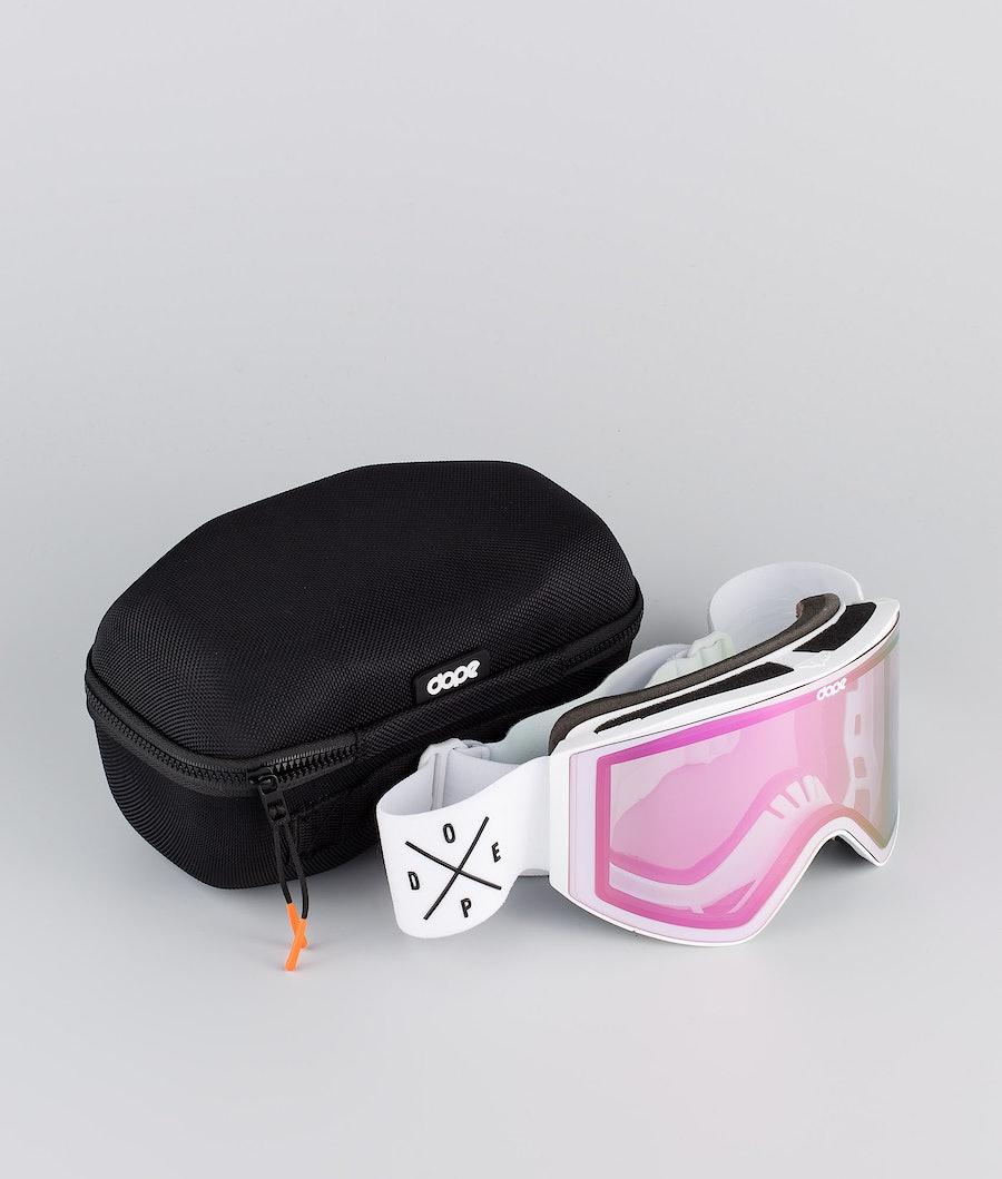 Dope Sight Large Maschera Sci White W/White Pink Mirror