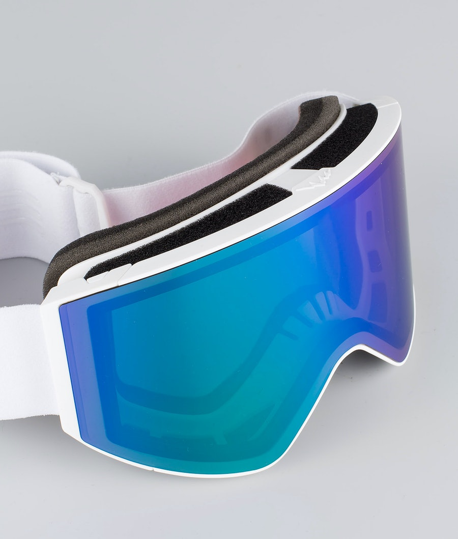 Dope Sight Large Skibril White W/White Green Mirror