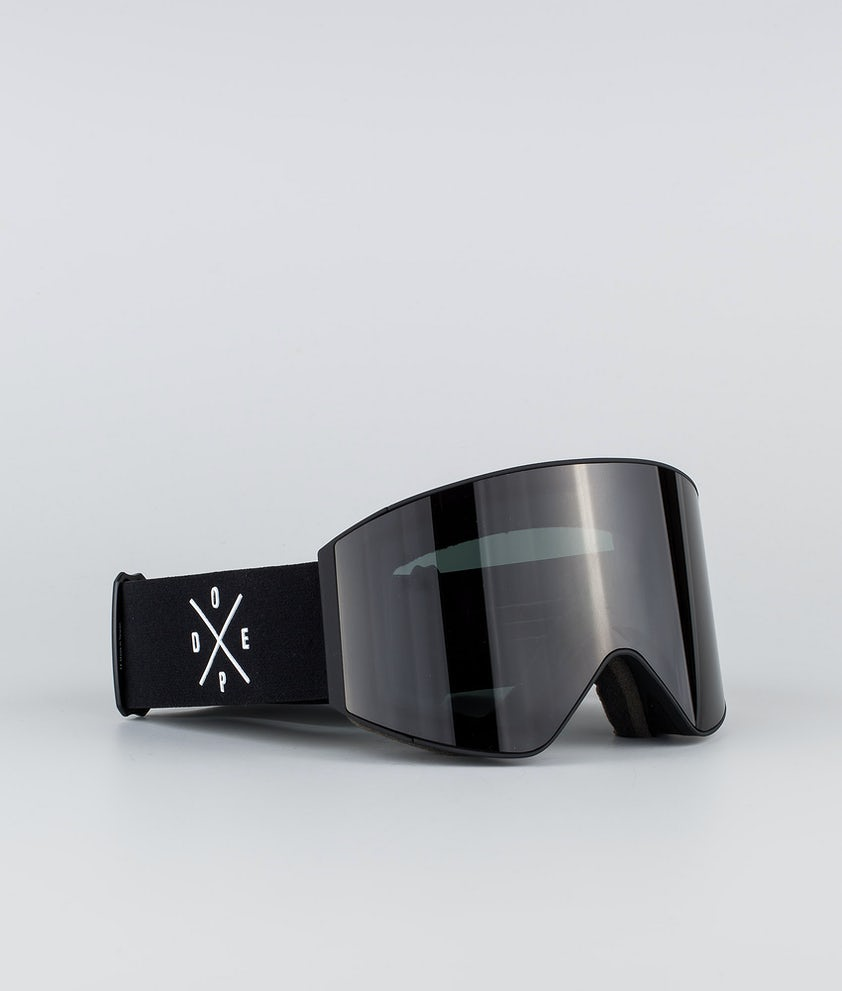 Dope Sight Large Ski Goggle Black W/Black Black