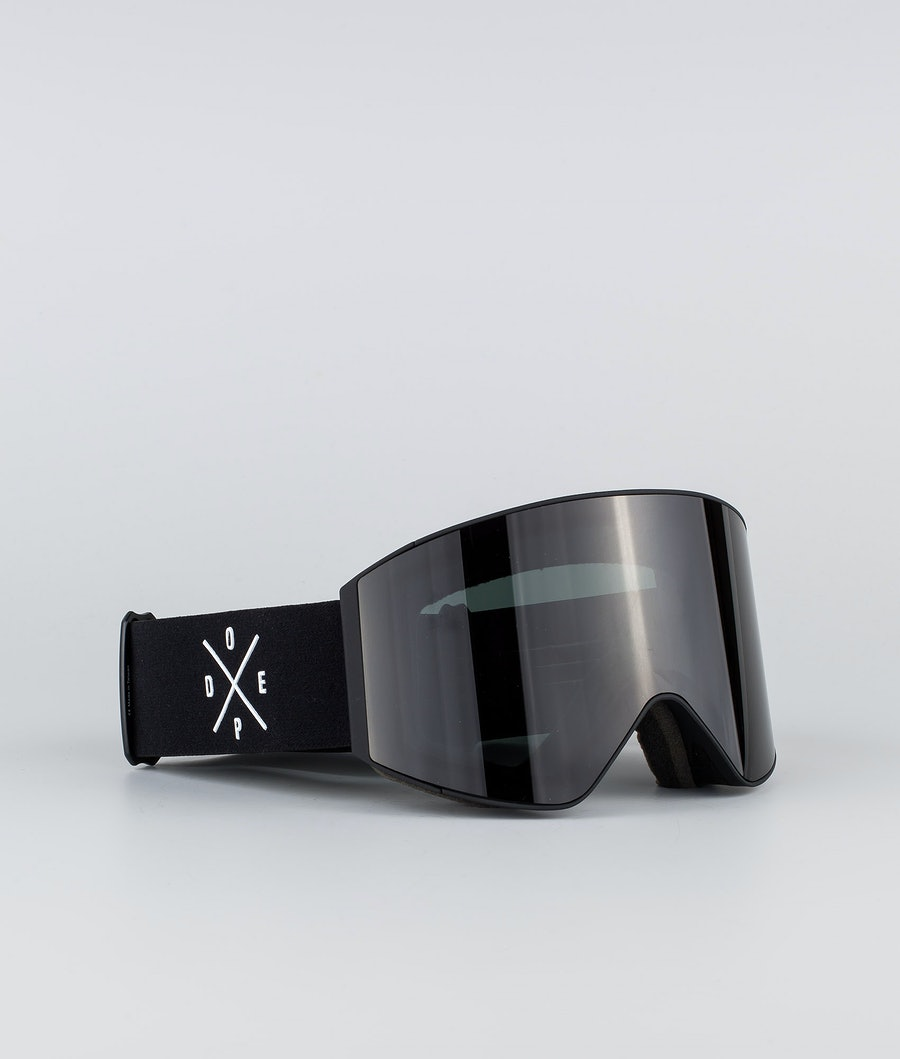 Dope Sight Large Masque de ski Black W/Black Black