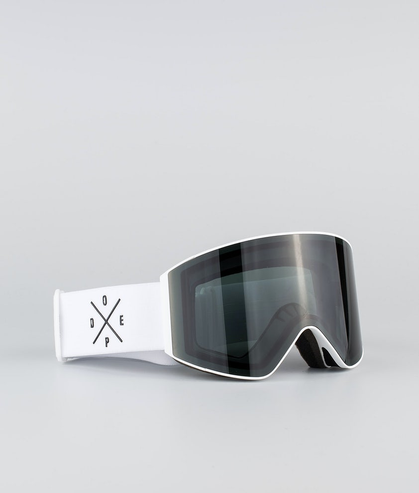 Dope Sight Large Ski Goggle White W/White Black