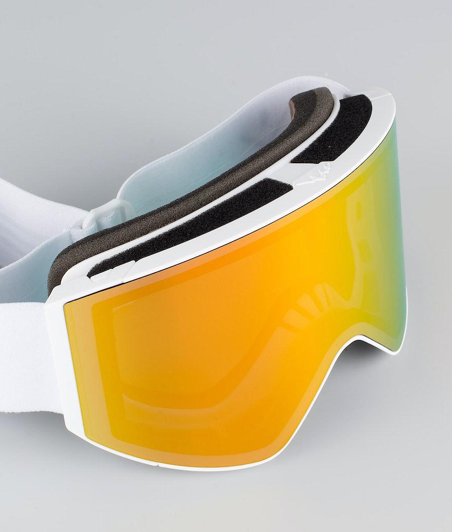 Dope Sight Large Skidglasögon White W/White Red Mirror