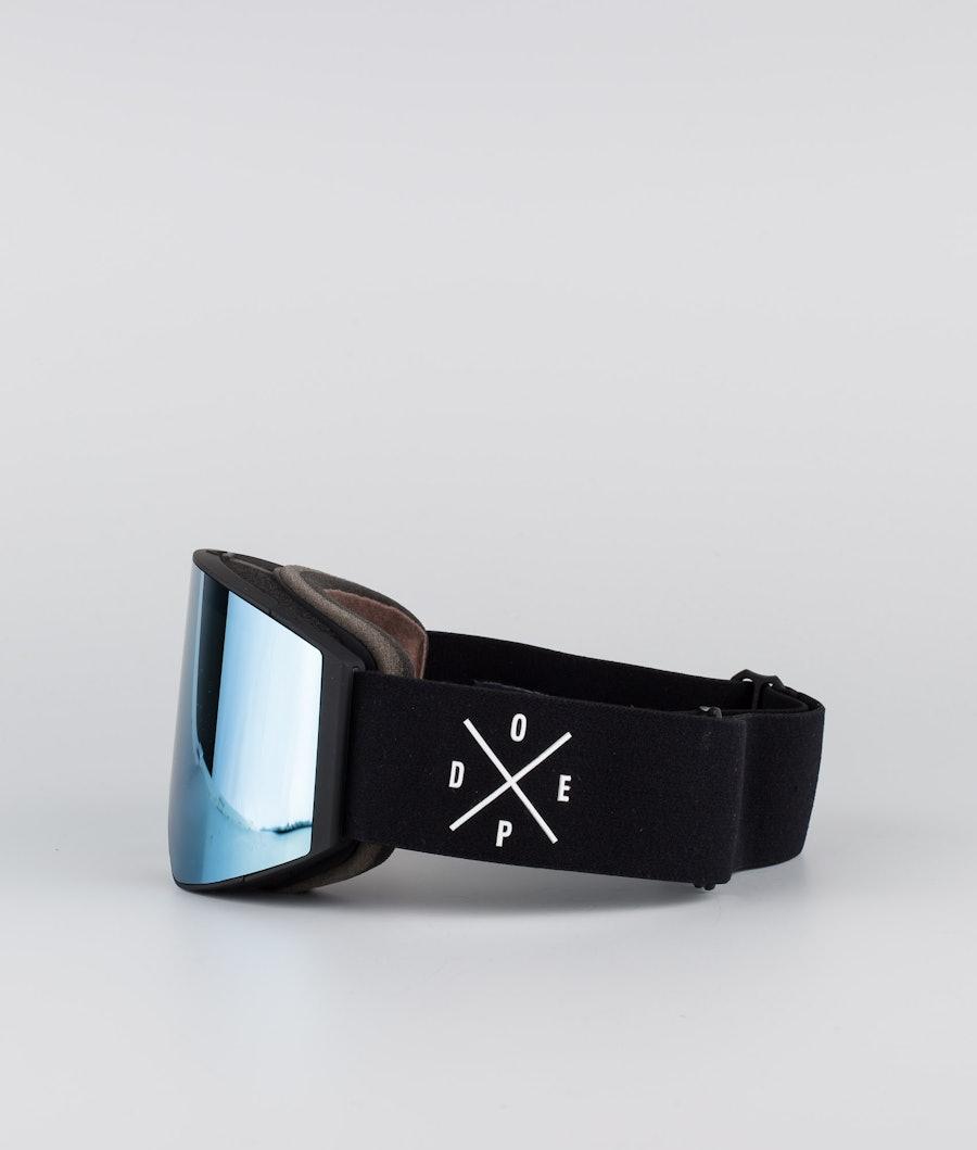 Dope Sight Large Skidglasögon Black W/Black Blue Mirror