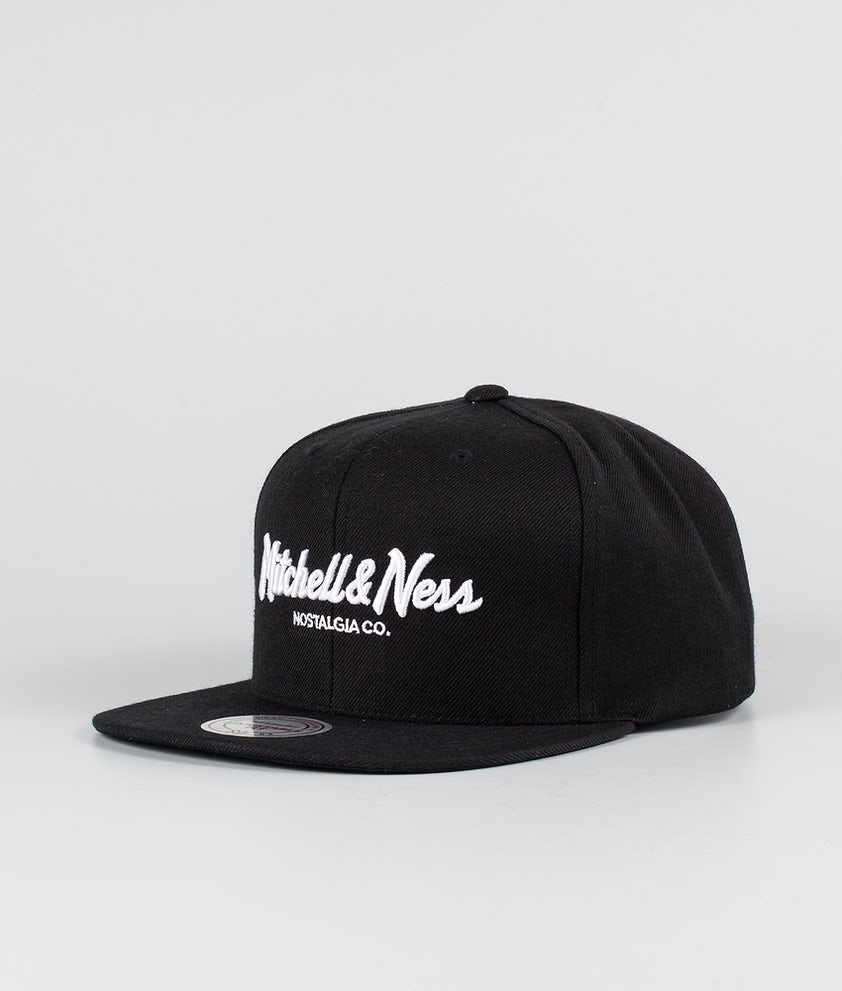 Mitchell and Ness Classic Script High Crown Keps Black