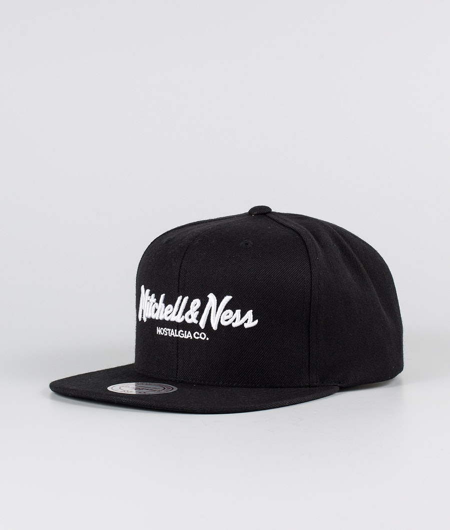 Mitchell and Ness Classic Script High Crown Caps Black