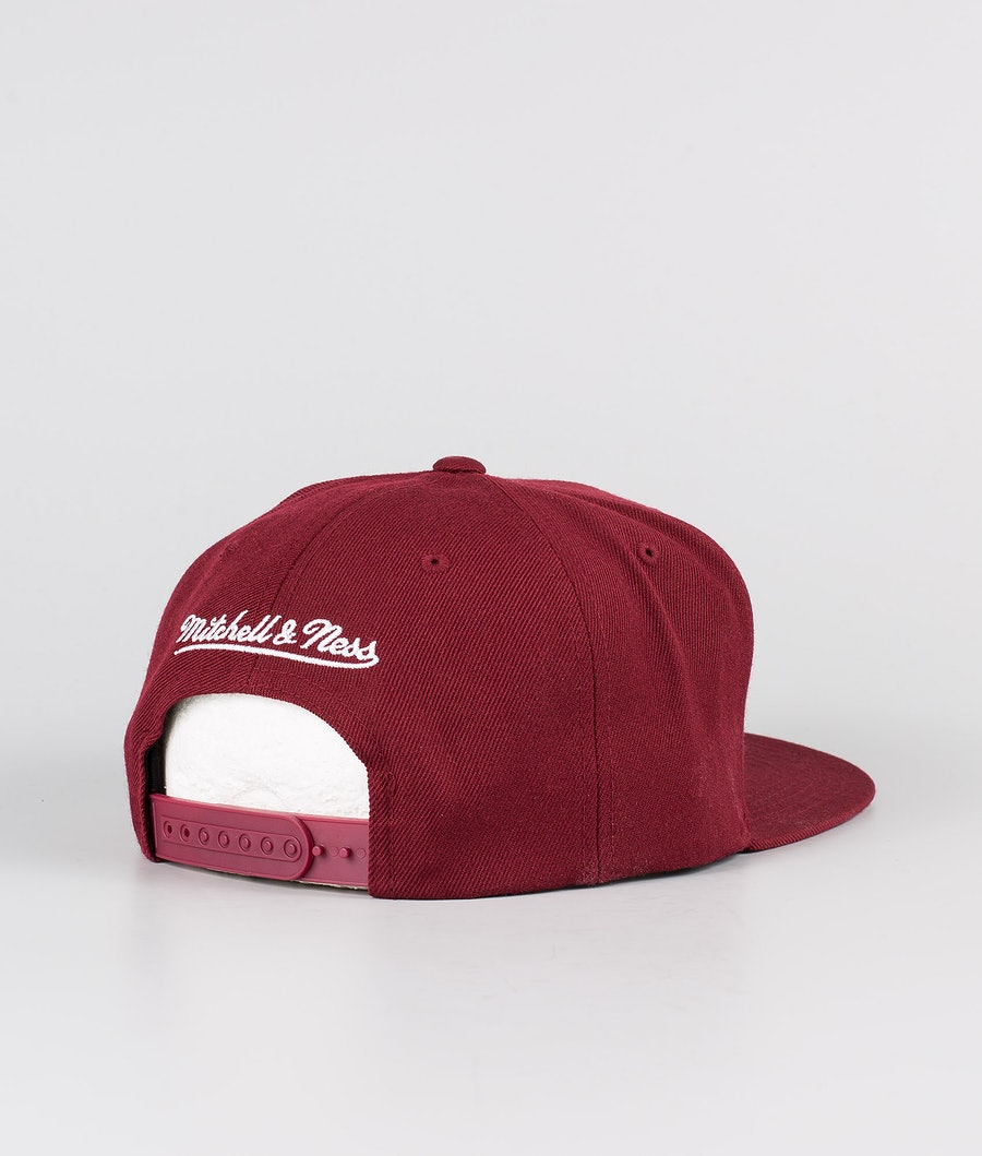 Mitchell and Ness Classic Script High Crown Keps Burgundy