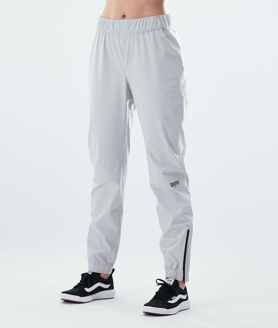 Dope Drizzard Pants W Regenhose Damen Light Grey