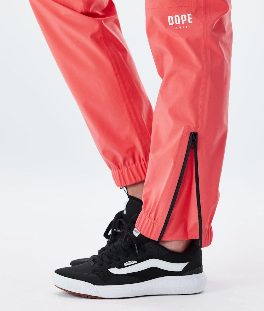 Dope Drizzard Pants W Regenhose Damen Coral