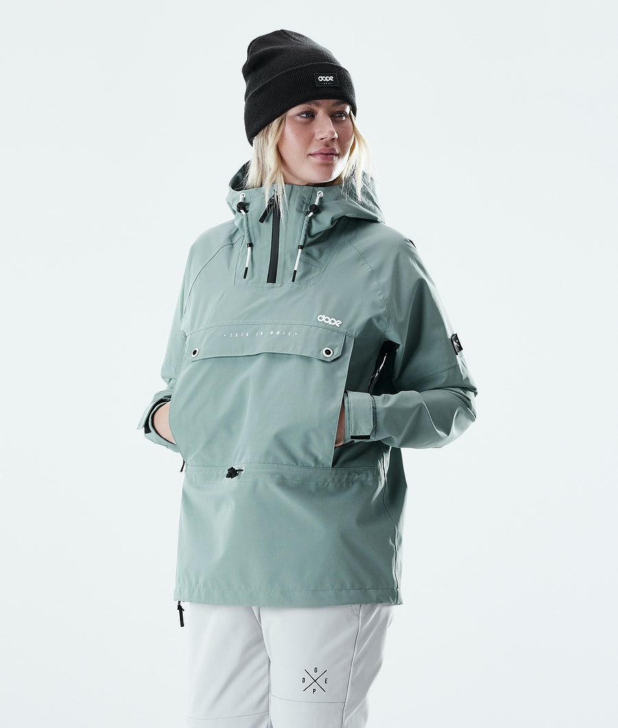 Dope Hiker W Women's Outdoor Jacket Faded Green