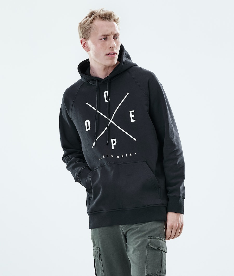 Dope Daily 2X-UP Hoodie Black
