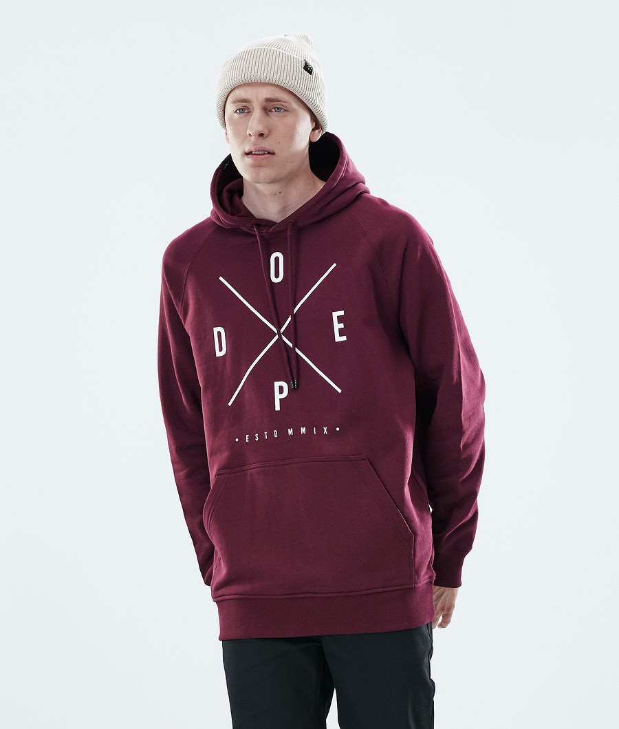 Dope Daily 2X-UP Hoodie Burgundy