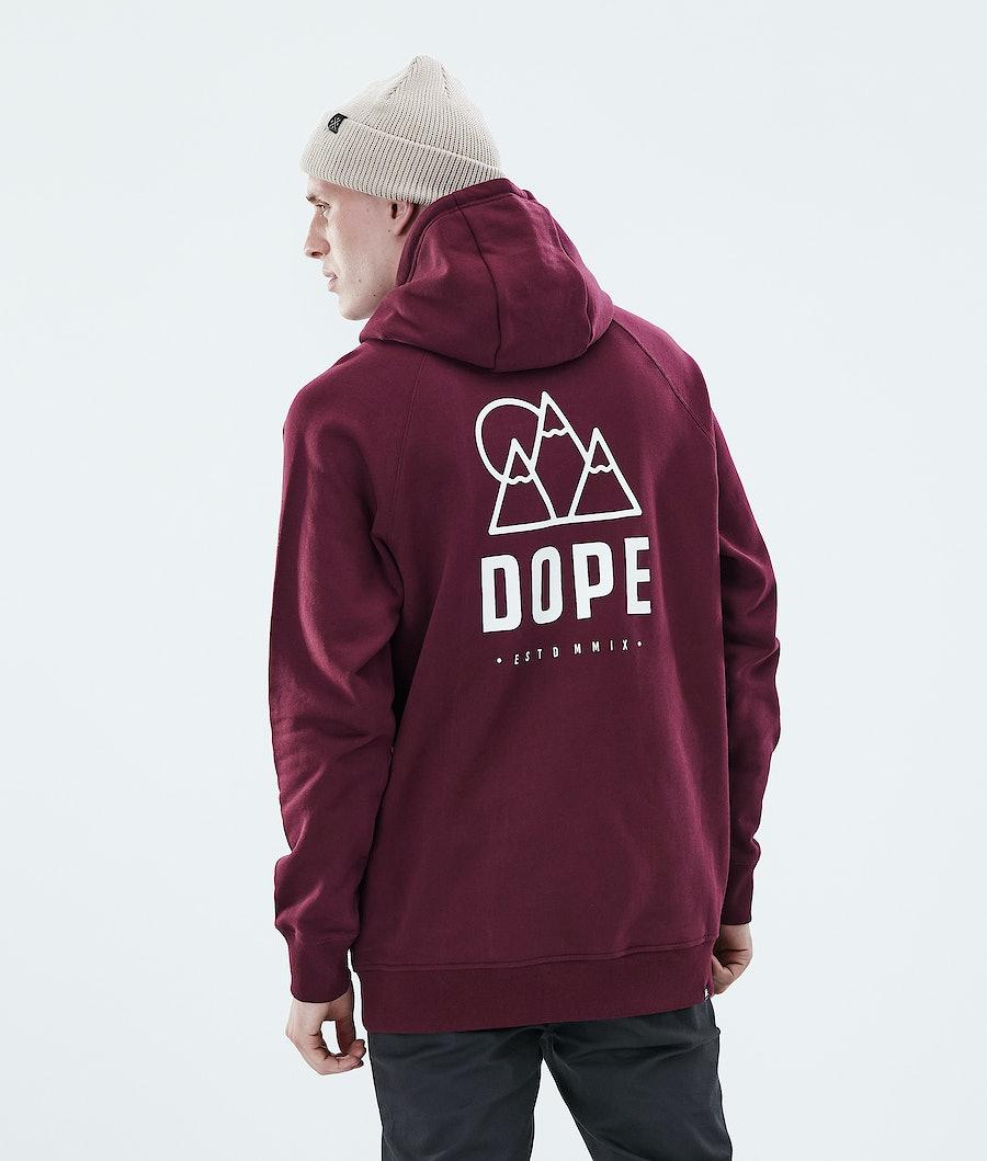 Dope Daily Rise Hood Burgundy