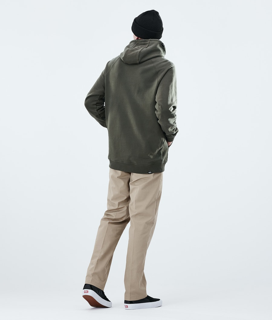 Dope Daily Capital Hoodie Olive Green