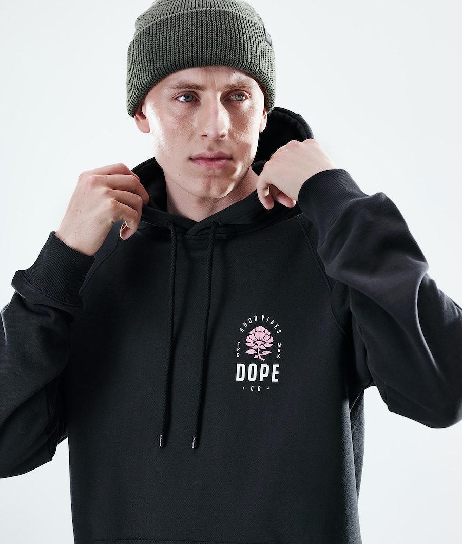 Dope Daily Rose Hoodie Black