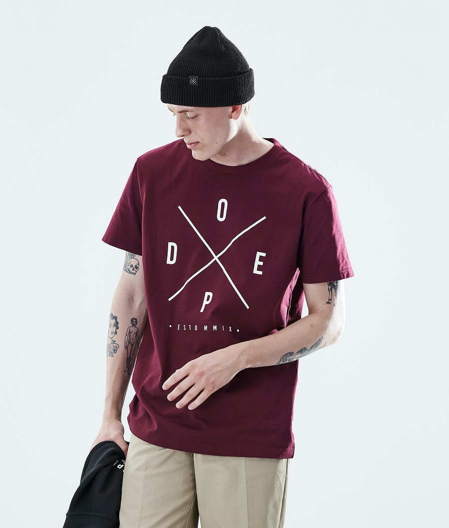 Dope Daily 2X-up T-paita Burgundy
