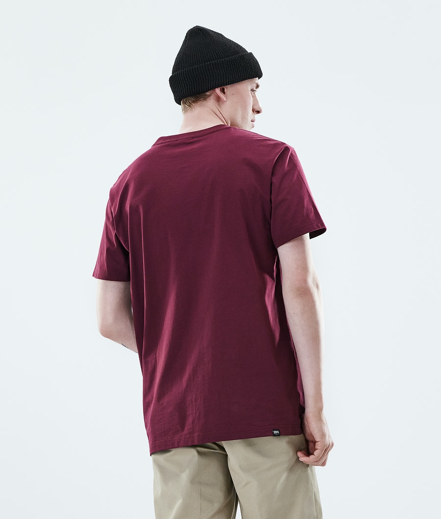 Dope Daily 2X-up T-shirt Burgundy