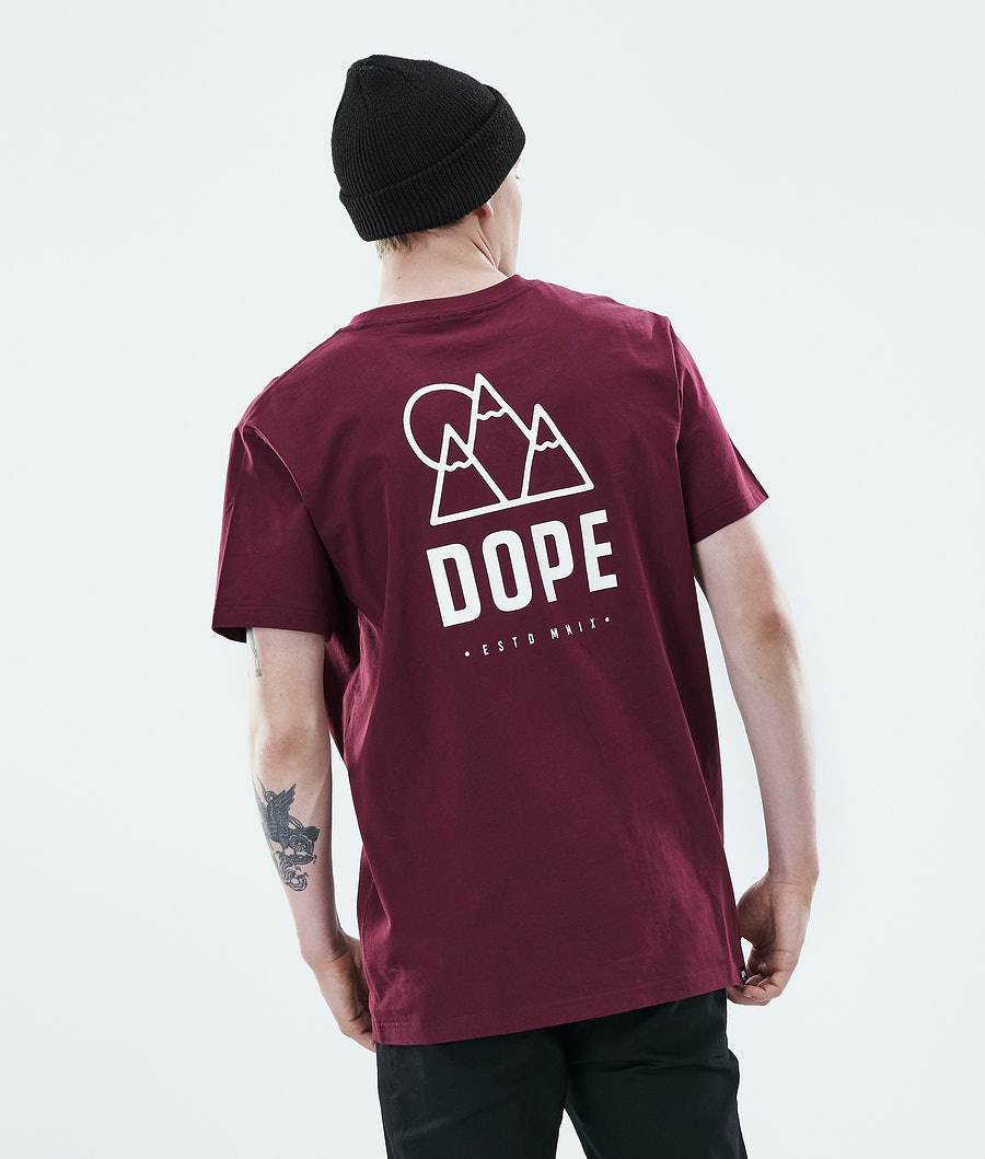 Daily Rise T-shirt Men Burgundy