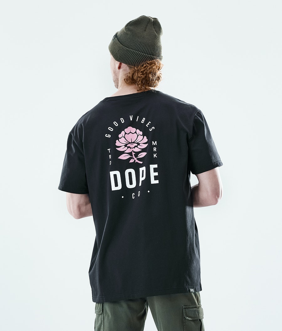 Dope Daily Rose T-paita Black