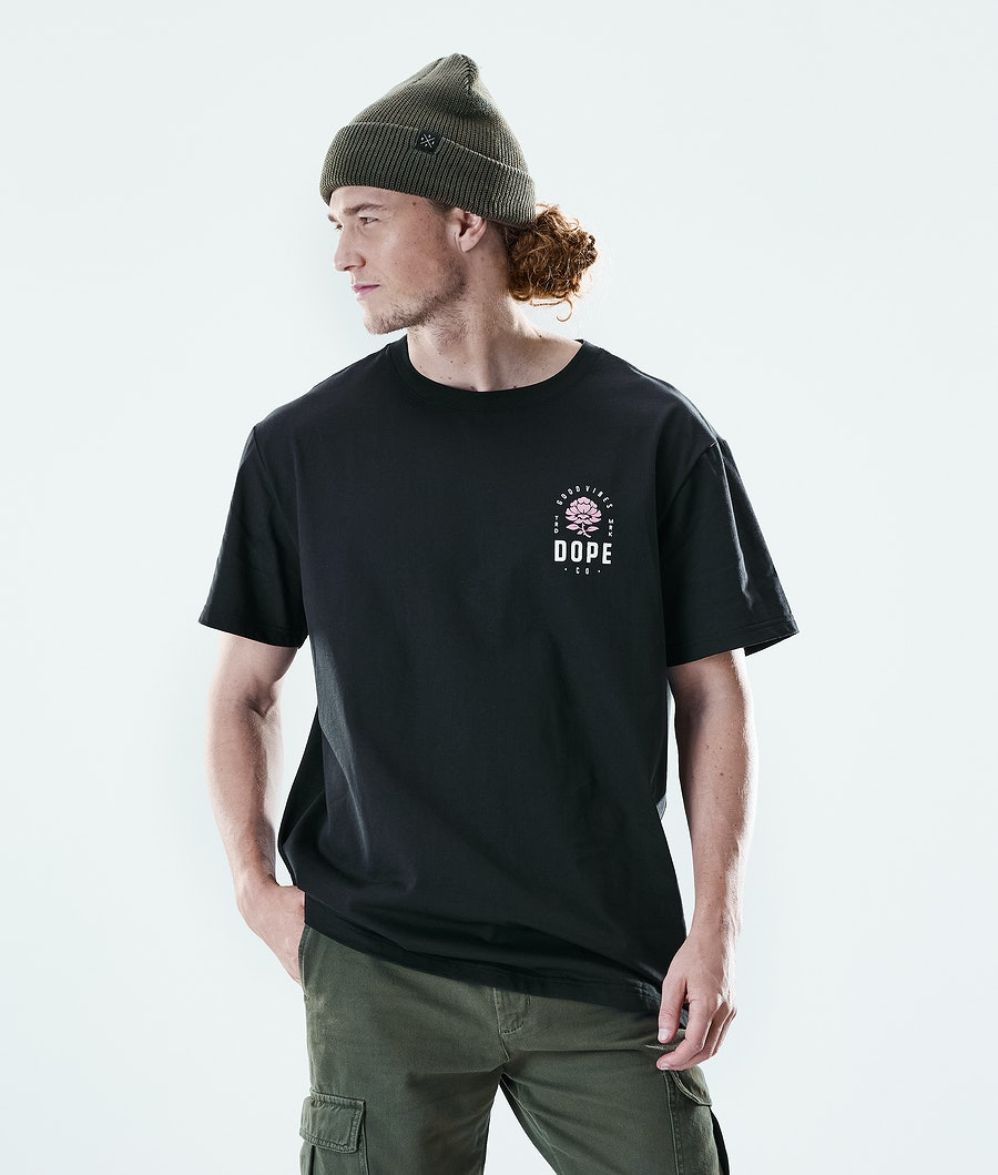 Dope Daily Rose T-shirt Black