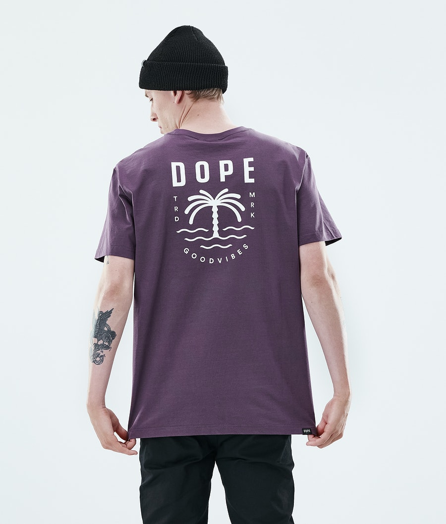 Dope Daily Palm T-paita Faded Grape
