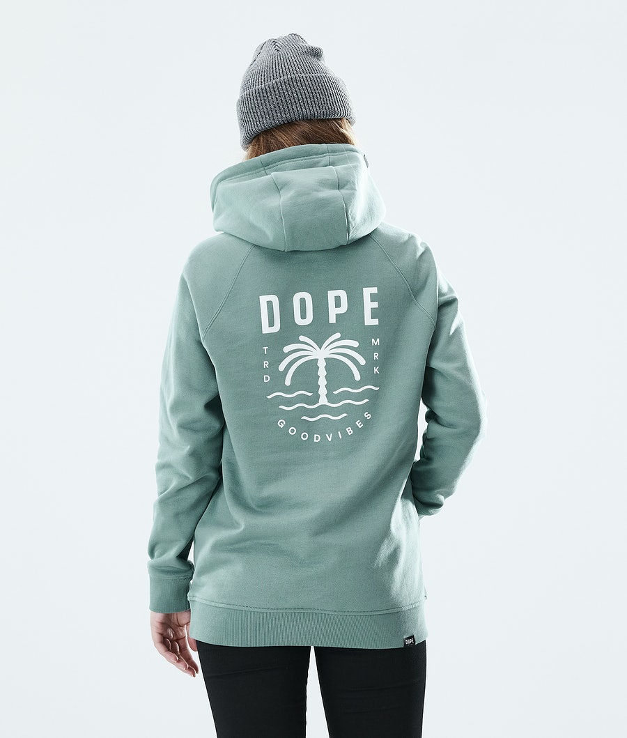 Dope Regular Palm Hoodie Faded Green