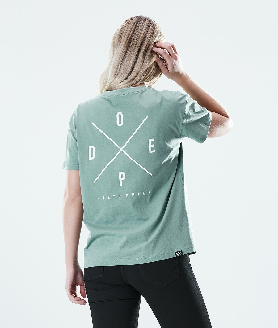 Dope Regular 2X-UP T-shirt Faded Green