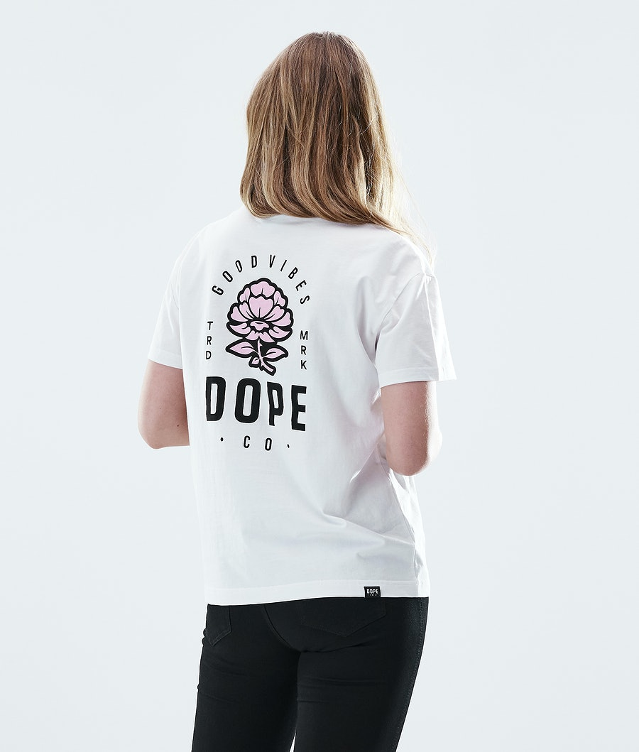 Dope Regular Rose T-shirt White