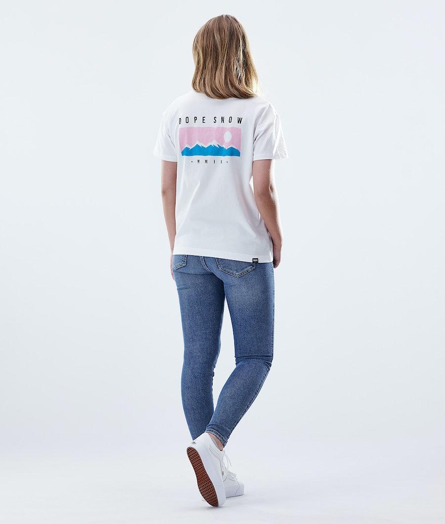 Dope Regular Range T-shirt Dam White