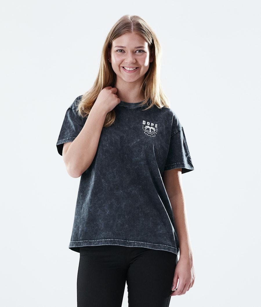 Regular Palm T-shirt Women Bleached Black