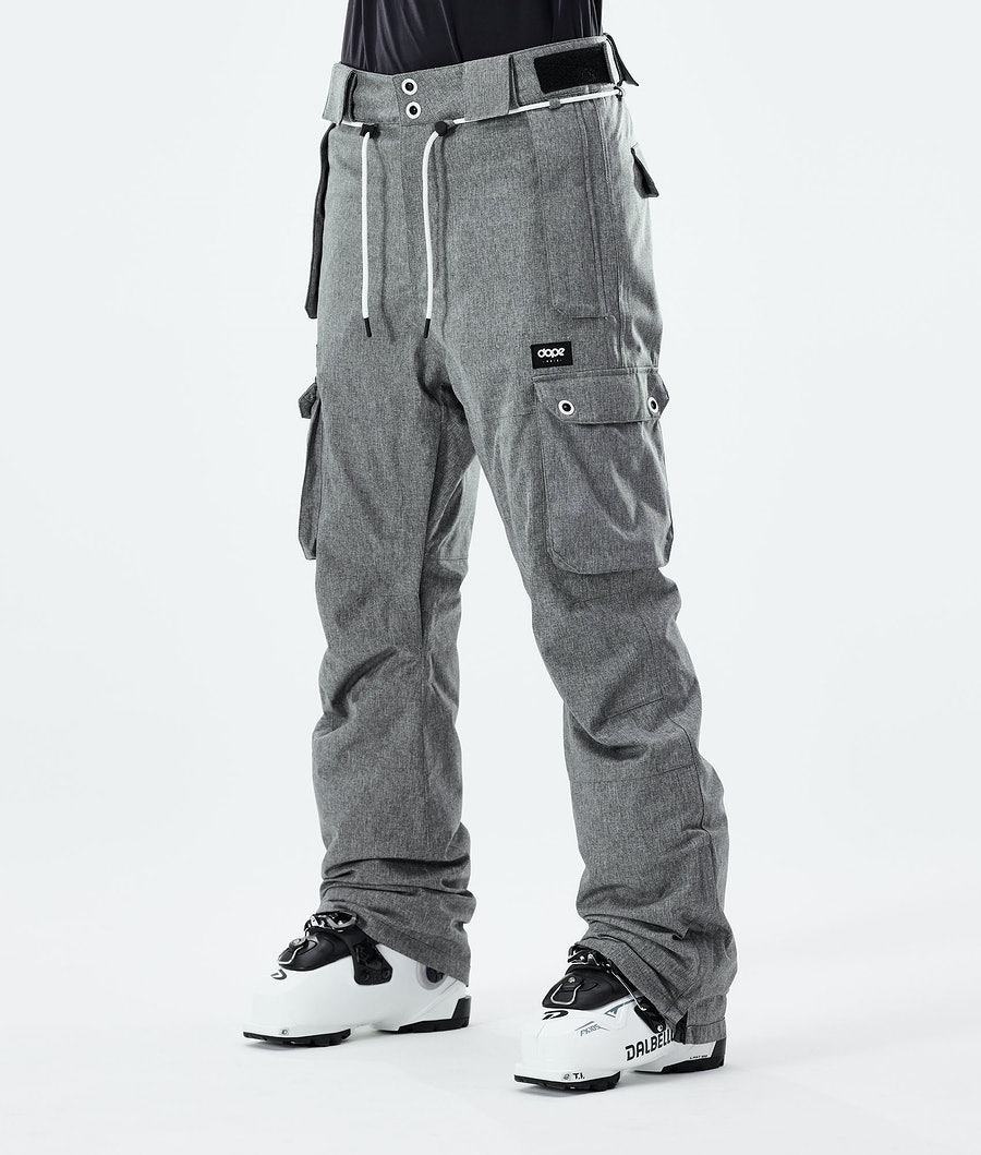 Iconic W Ski Pants Women Grey Melange