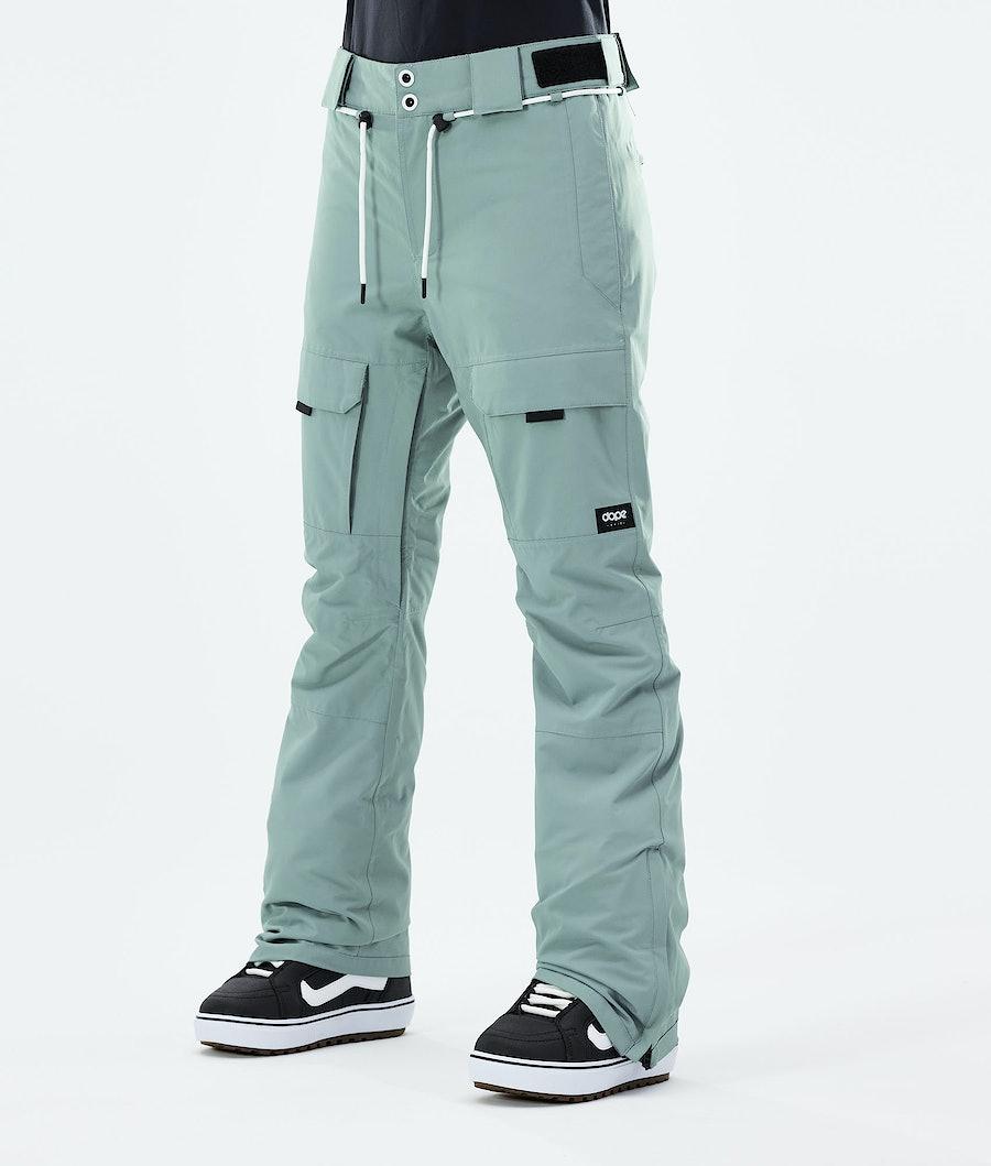 Dope Grace Snowboard Pants Faded Green