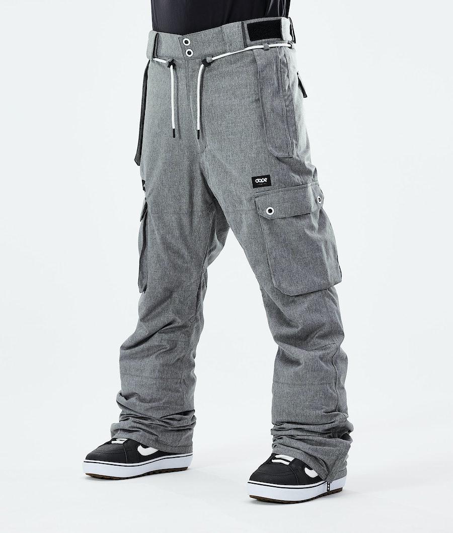 Iconic Snowboard Pants Men Grey Melange