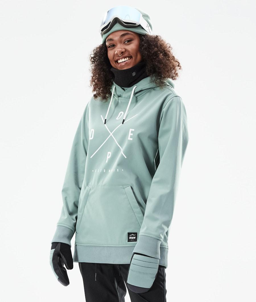 Dope Yeti W 10k Skijacke Faded Green