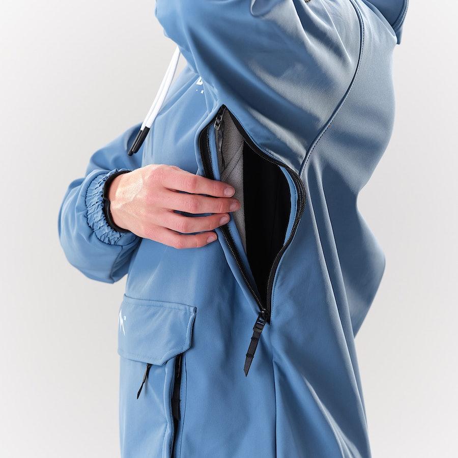 Unterarmbelüftung mit Reißverschluss