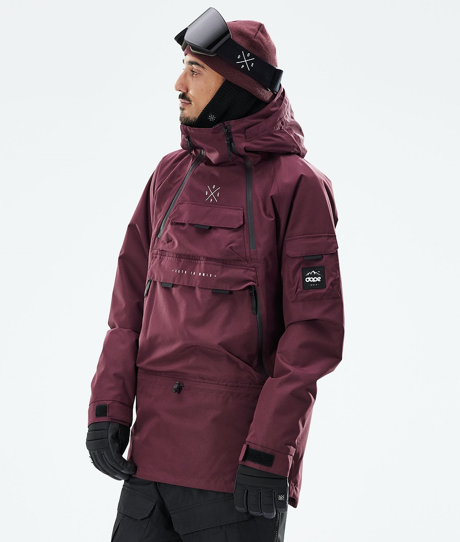 Dope Akin Giacca Snowboard Burgundy