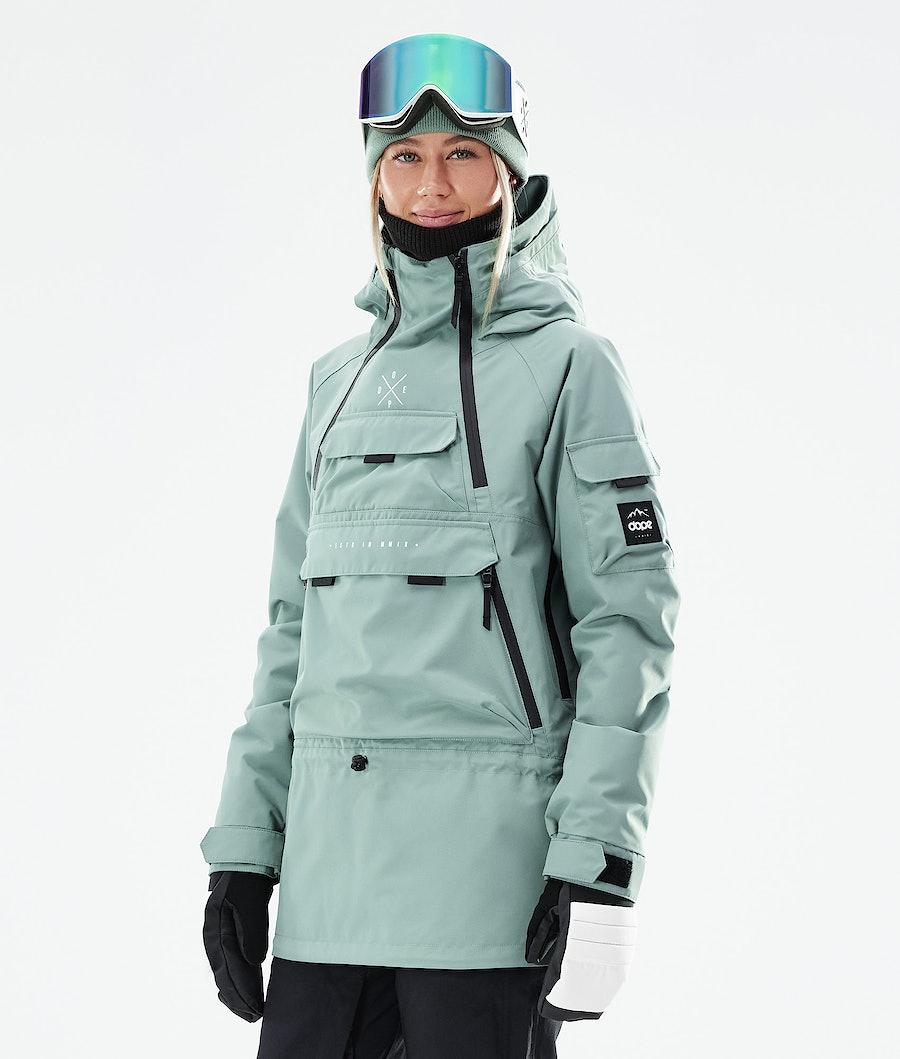 Dope Akin W Snowboardjacke Faded Green