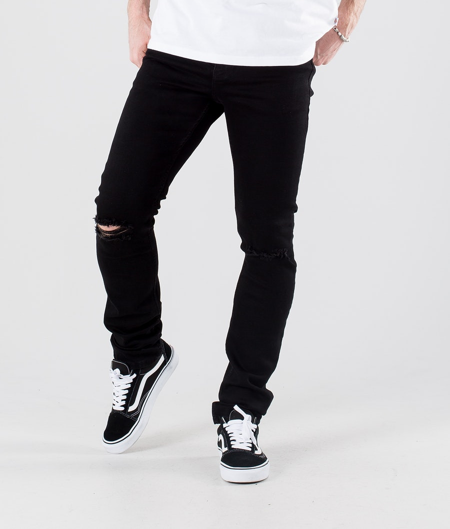 Dr Denim Chase Pants Black Ripped Knees