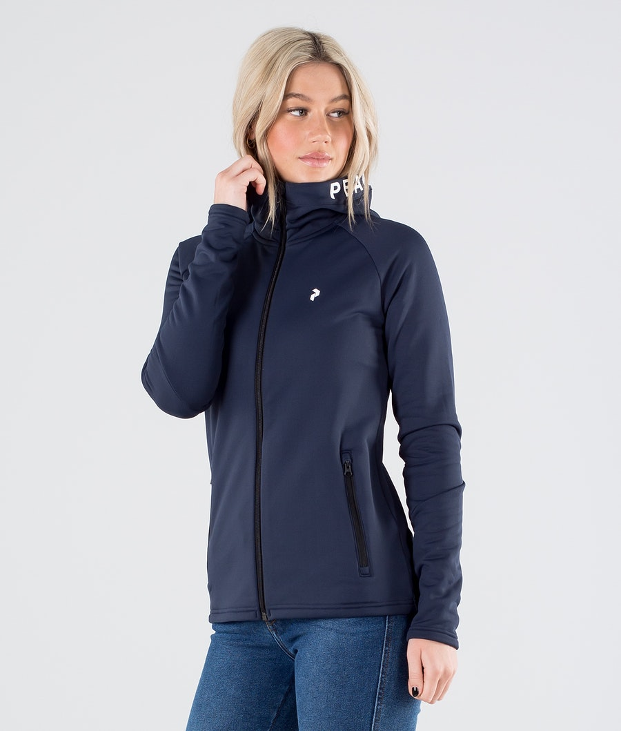 Peak Performance Rider Zip Hood Blue Shadow