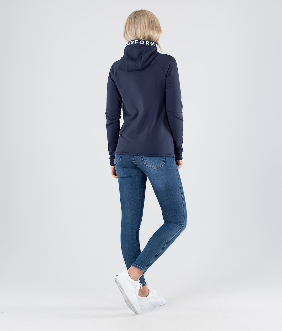 Peak Performance Rider Zip Felpa con Cappuccio Donna Blue Shadow